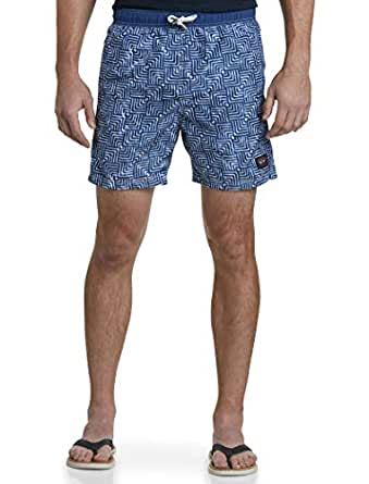 PAUL & SHARK大码男泳裤休闲短裤宽松系带直筒D5756 blue 2XL