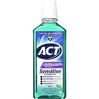ACT 全護護除蛀牙氟化物敏感*溫和薄荷 18盎司 4片裝