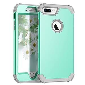 iPhone 7 Plus 手机壳,Awinning [硬质 PC + 软硅胶]混合重型防震全机保护壳适用于 Apple iPhone 7 Plus 5.5 英寸iPhone 7 Plus Case 薄荷绿