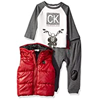 Calvin Klein 男婴 3 件套背心套装慢跑裤