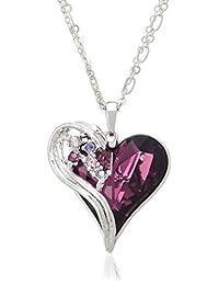 pure pearl 紫色心形项链 PP592832