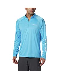 Columbia Men's Terminal Tackle 1/4 Zip Jacket, X-Large Tall, Riptide/White