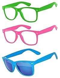 3 对儿童透明镜片眼镜保护儿童*免受 UVB UVA UVA