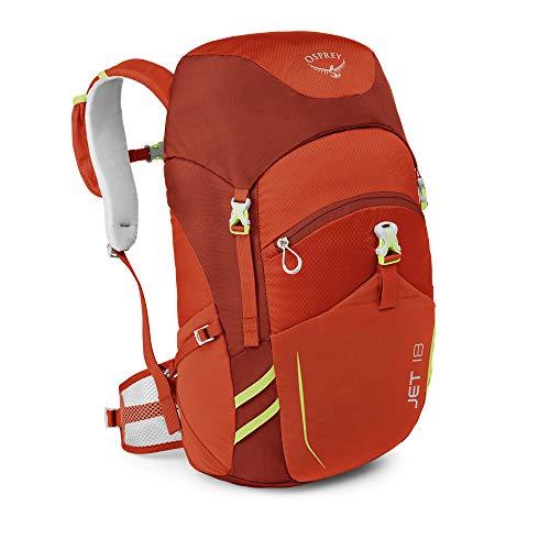 Osprey 中性童 淘气鬼 Jet 18 均码 儿童背包 儿童日用旅游多功能硬质背板透气肩带舒适背负多重分仓 三年质保终身维修(两种LOGO随机发)儿童系列