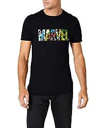 漫威男式漫画 strip 徽标 T 恤
