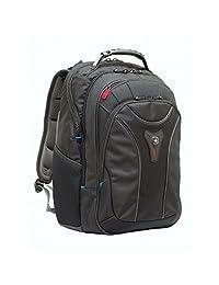 "Wenger 600637 CARBON 17"" MacBook Pro 背包,加垫笔记本电脑隔层带稳定平台黑色 {30 升}"