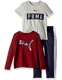 Puma 男童针织裤套装