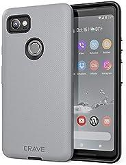 谷歌 Pixel 2 XL 手机壳,疯狂双重防护系列手机壳,适用于 Google Pixel 2 XLCRVDGGP2XL102  岩石灰