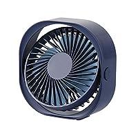 MOSTOP 小型风扇 USB 3 速台式风扇 个人便携式散热风扇 带 360 度旋转可调角度静音风扇 适用于家庭办公室户外旅行 蓝色
