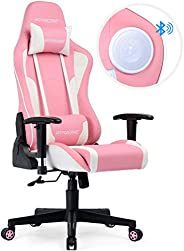 GTRACING 電競游戲椅 粉色 68x128x51cm スピーカー付き