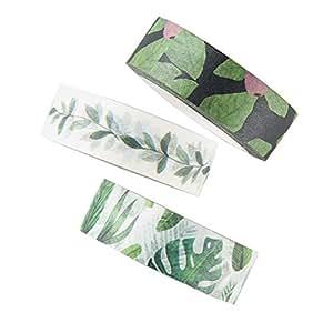 MAGJUCHE Washi 胶带套装 Green-leaves tape