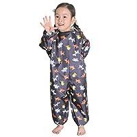 Plie 儿童防水罩衣艺术罩衫(1~6 岁) *蓝动物 大