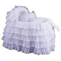 """BabyDoll Extravaganza 摇篮衬垫/裙子和帽子 白色 17"""" x 31"""""""