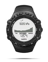 SUUNTO 颂拓 芬兰品牌 CORE核心系列 石英手表 中性 男女适用腕表 普黑色 SS014809000(温度计、高度计,气压计,罗盘,深度计,高度记录、高度差测量、天气信息)