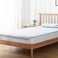 Kumori 褥垫 凉爽触感 速干型 床单 夏季用 凉垫 可洗 *、防臭、* 蓝色 キング・180X200cm SP-H-BL5