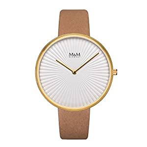 M&M 女士指针石英手表皮革表带 M11943-512