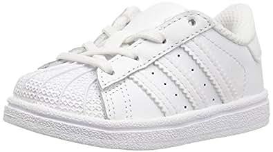 adidas Originals Superstar Foundation C Sneaker (Little Kid),White/White/White,1 M US Little Kid