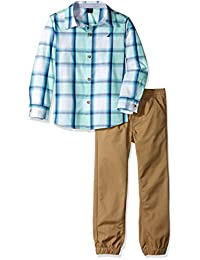 Nautica 套装 (KHQ) 男孩 2 件套衬衫裤套装