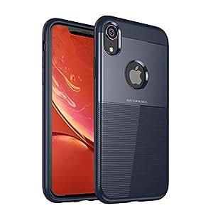 Ifaeveus i Phone XR 手机壳奢华兼容 iPhone X R 手机套 iPxr xPhone aPhone 保护缓冲皮肤硅胶纤薄款 2018 新款 6.1 英寸 蓝色