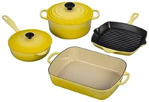 Le Creuset Signature 6-Piece Cast Iron Cookware Set, Soleil