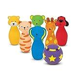 Melissa & Doug 19160 K's Kids 保龄球朋友玩具套装和游戏,带 6 个针和方便的便携包