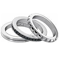 Calvin Klein 不锈钢黑色方晶锆石戒指