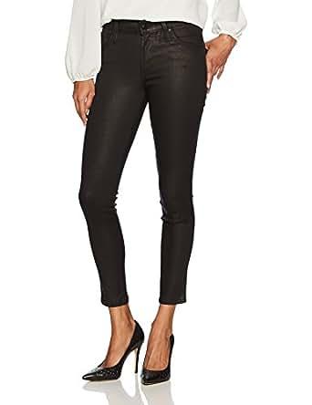 James Jeans 女式 J Twiggy 及踝长度光面打底裤 黑色闪光 黑色微光 26