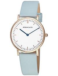 Rossling & Co. 石英男女适用手表 Classic 36mm - Blue - RO-005-010 (亚马逊进口直采, 加拿大品牌)