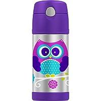 Thermos Owl 不锈钢吸管瓶,12 盎司,紫色
