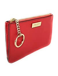 Kate Spade New York Bitsy 卡包带钥匙圈硬币钱包红色