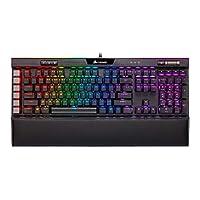 CORSIAR 美商海盗船 K95 RGB 白金XT机械游戏键盘,背光RGB LED,CHERRY MX SPEED RGB银色,黑色