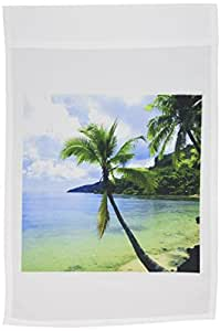 热带岛屿–热带天堂–旗帜 12 x 18 inch Garden Flag