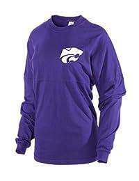 官方 NCAA 堪萨斯州立大学野猫队 KSU K 状女式长袖 Spirit 穿针织 T 恤