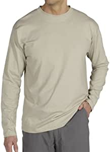 ExOfficio Men's BugsAway Chas'r Crew Long Sleeve Shirt Wet Sand 小号