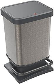 Rotho Paso 垃圾桶 20升 带防臭盖,塑料(PP) Hexagon 20 Liter 1754010602