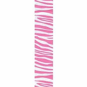 Offray Zebra Crystal Craft Ribbon, 3/8-Inch x 12-Feet, Pink