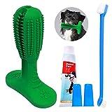 All Prime 狗狗牙刷玩具 - 还免费赠送(价值 7 美元)狗狗牙齿清洁套装,带 3 个额外的狗狗牙刷 - 狗狗牙刷 牙棒 改善狗狗*