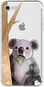 iPhone 8PLUS/iphone 7Plus 保护套5.5英寸 blingy 新款***动物设计透明软 TPU 橡胶保护套适用于 iphone 8PLUS/iphone 7Plus Koala Eating Leaves