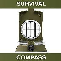 瑞士*多功能军事生存指南针 - 适用于露营、徒步、户外和紧急生存的高级导航指南针