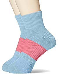 [ASTUG] Clear Beauty Active 运动袜 防滑 中筒长度 〈2双装〉 女士 JDC5081