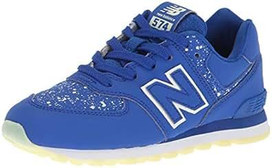 New Balance Unisex Kids 574v2 Trainers, Blue (Royal/Glo Ky), 1.5 33.5 EU