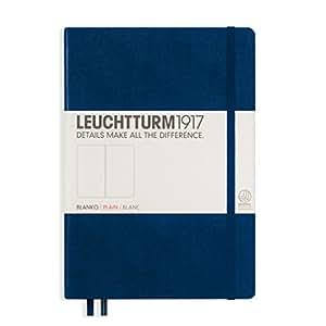 LEUCHTTURM1917 灯塔中开无格笔记本藏蓝色硬封皮(A5)
