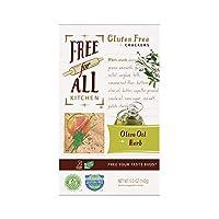 Free for All Kitchen 无麸质盒装饼干, 橄榄油和香草, 5 盎司(142克)