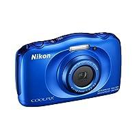 ' Nikon Coolpix W 100数码相机紧凑 , 13.2万像素 , LCD 3 , 全高清 , 蓝色 [ nital 卡 : 4岁保修 ]