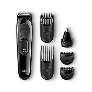Braun 博朗 多功能修理毛发套装 6 合 1 胡须和毛发修理套装 带有鼻毛修剪附件