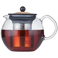 Bodum Assam 玻璃茶壶,带不锈钢过滤器 软木 34-Ounce 1801-109S