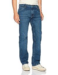 WRANGLER 男式 authentics 经典直筒牛仔裤