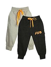 Finger's 男孩女孩裤子幼儿棉质运动裤慢跑裤 - 2 件装