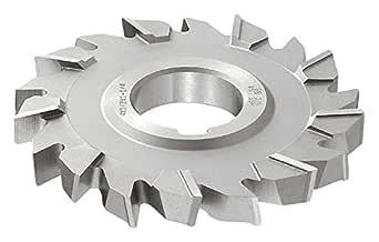 "KEO Milling 84507 交错齿木德鲁夫钥匙座铣刀,""WK""风格,1/4 英寸宽,3/4 英寸横轴孔,14 齿,2-1/8 英寸切割直径,HSS,TiCN 涂层,标准切割"