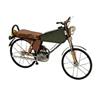 Deco 79 Metal Wood Motorcycle, 17 by 11-Inch